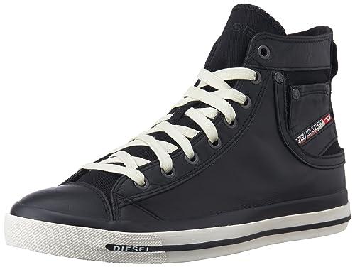 Diesel D-Velows D-String Low, Zapatillas para Hombre, Negro (Black T8013), 45 EU