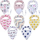 Amazon Price History for:Baby Bandana Drool Bibs, Unisex 8-Pack Gift Set for Drooling and Teething, 100% Organic Cotton, Soft and Absorbent, Hypoallergenic - for girls by ModaBebis (8 pack, girl)