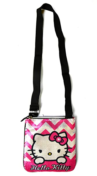 6413d5a67 Image Unavailable. Image not available for. Color: Hello Kitty Sequin Crossbody  Handbag ...