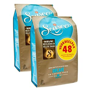 Senseo, Decaffeinated Coffee Pods - Medium Roast, No Caffeine - Rich, Aromatic, and Smooth Flavor, 96-count Pods, 2 X 48 Pack