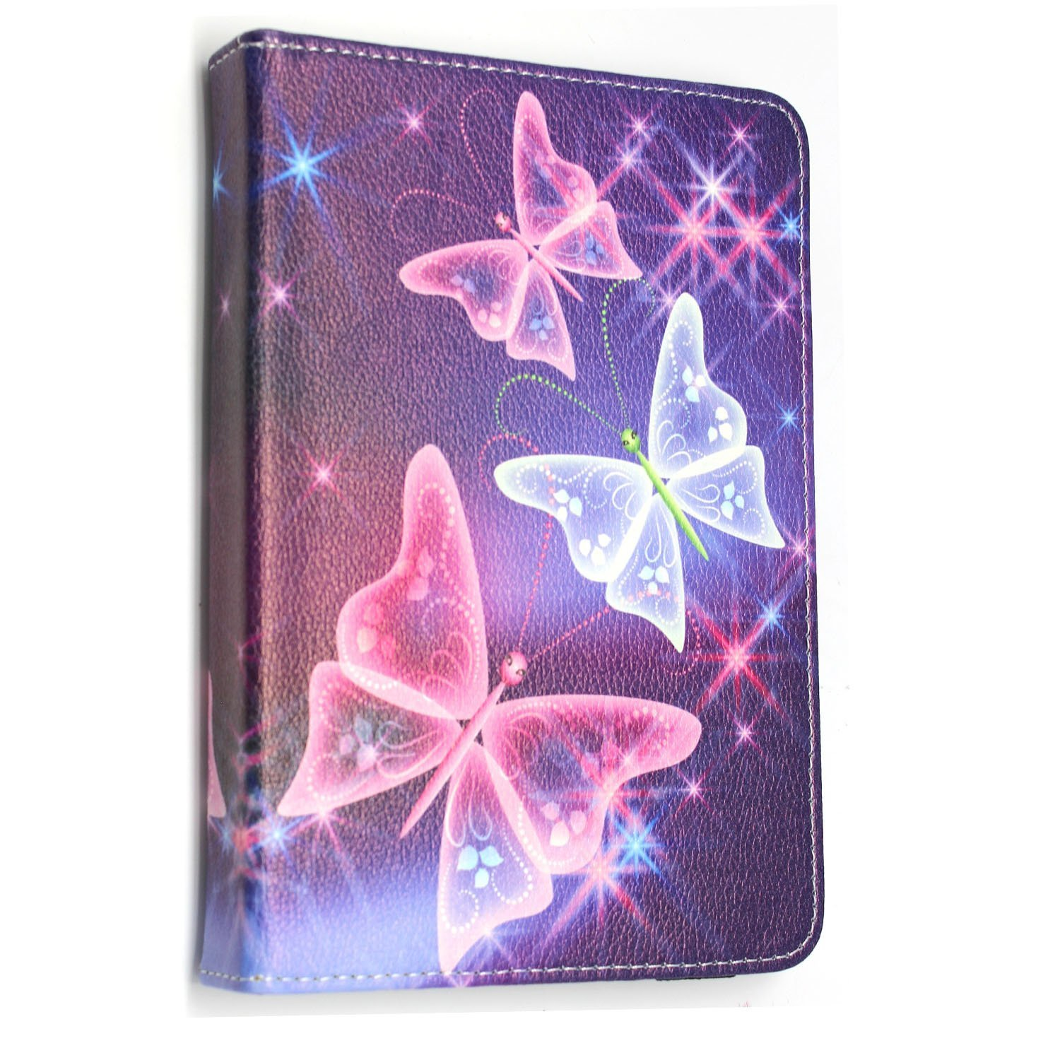 Sony Universal PU Leather 360/° Rotational Stand Folio Case Cover Fits All Android Samsung Huawei Acer Toshiba Tablets tab devices Stylus Pen For 8 inch, Plain Pink Flip Lenovo