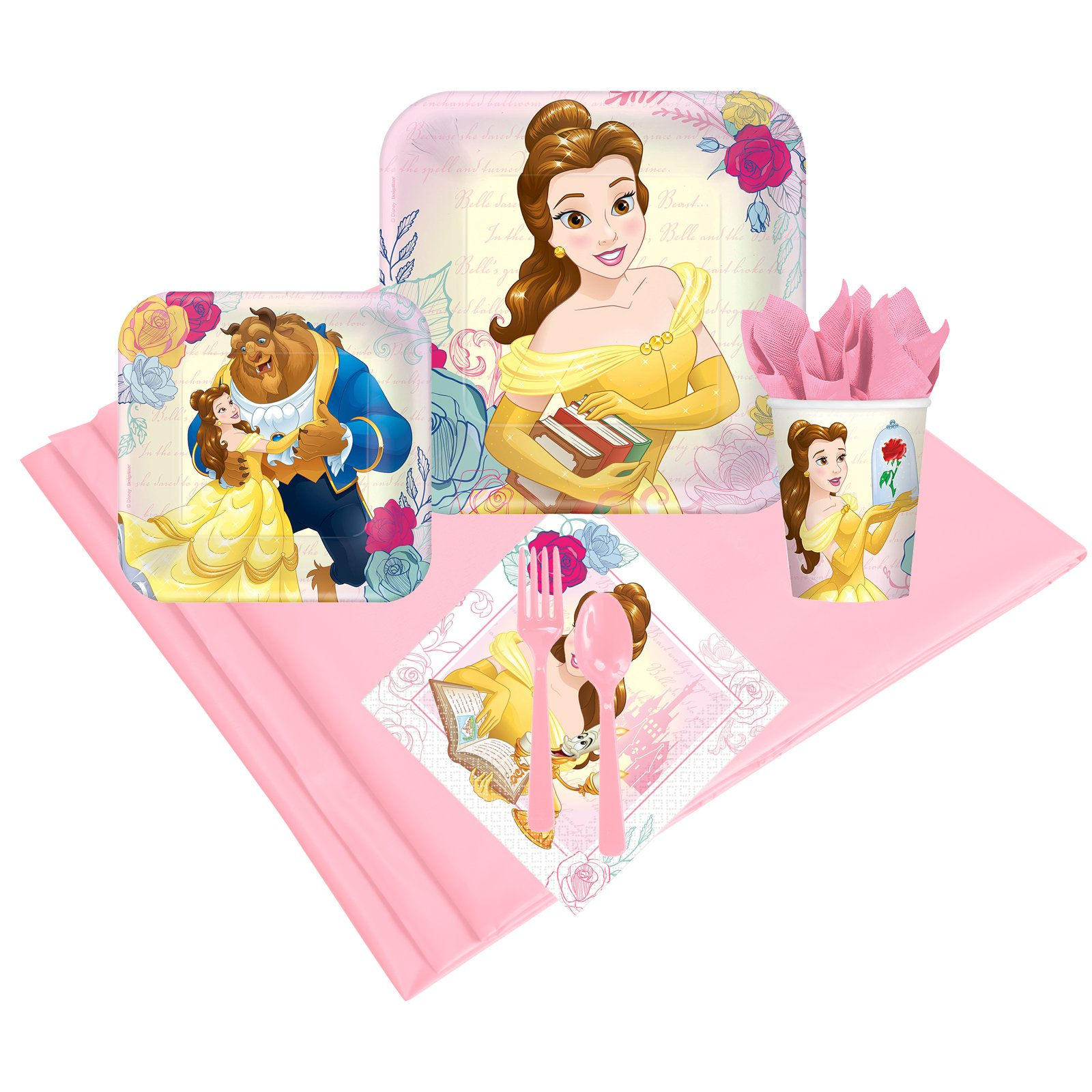 BirthdayExpress Disney Beauty and the Beast Party Supplies Party Pack (24) by BirthdayExpress