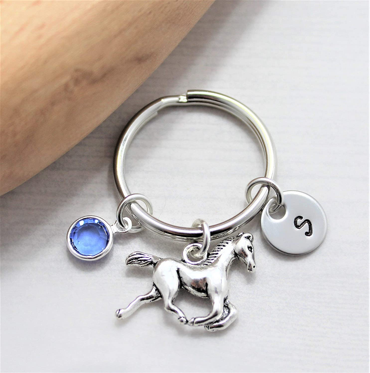 Exceptional Gift High Quality Keychain Giara horse Horse Crystal Keyring
