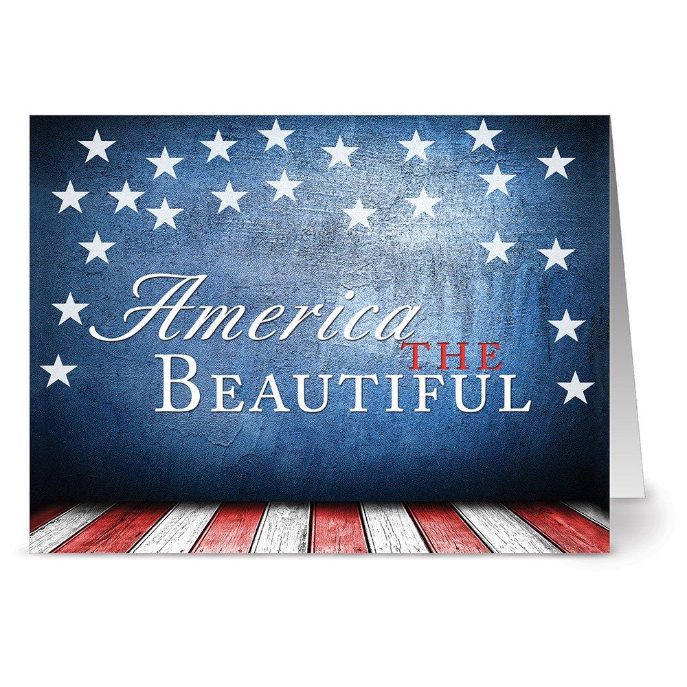 Amazon Com America The Beautiful 36 Patriotic Note Cards