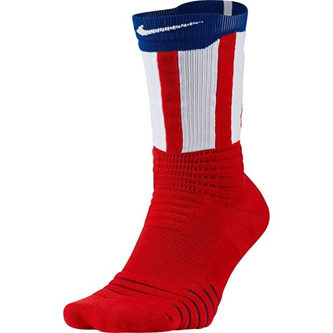 wholesale dealer f1601 ad2cb Nike Elite Versatility 4th Of July Men s Basketball Crew Socks  Red White Blue - Medium M