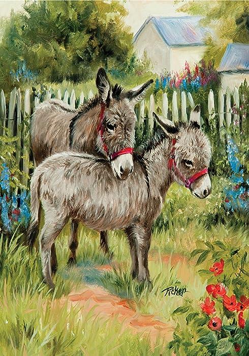 The Best Donkey Garden Flag
