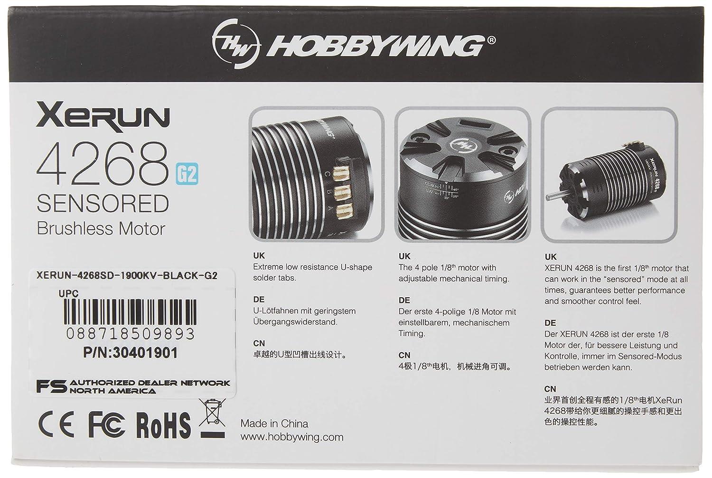 Hobbywing 30401901 XeRun 4268 SD G2 Sensored Brushless Motor 1900kV
