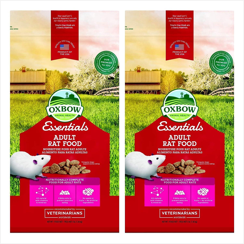 ESSENTIALS Oxbow Animal Health Adult Rat 3 Pound Bag. (2 Pack)