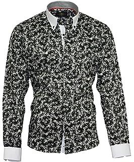 Louis Binder de Luxe Herren Hemd Shirt weißer Kragen weiße Manschetten  figurbetont modern fit 100% da4559118f