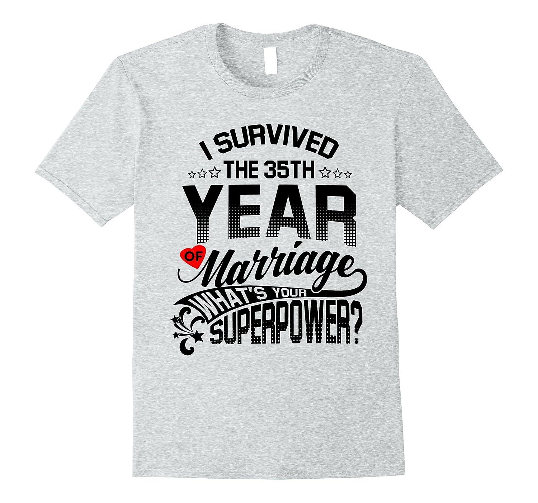 Anniversary Gift 35th 35 Years Wedding Marriage T-Shirt