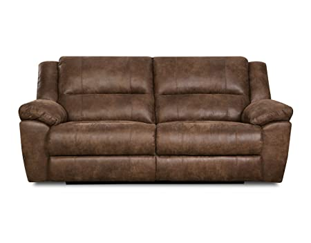 Simmons Upholstery Phoenix Mocha Double Motion Sofa