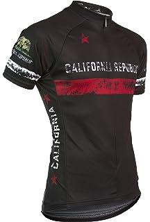 595918c06 Voler California Republic Full Zip Men s Race Cut Cycling Jersey - Black
