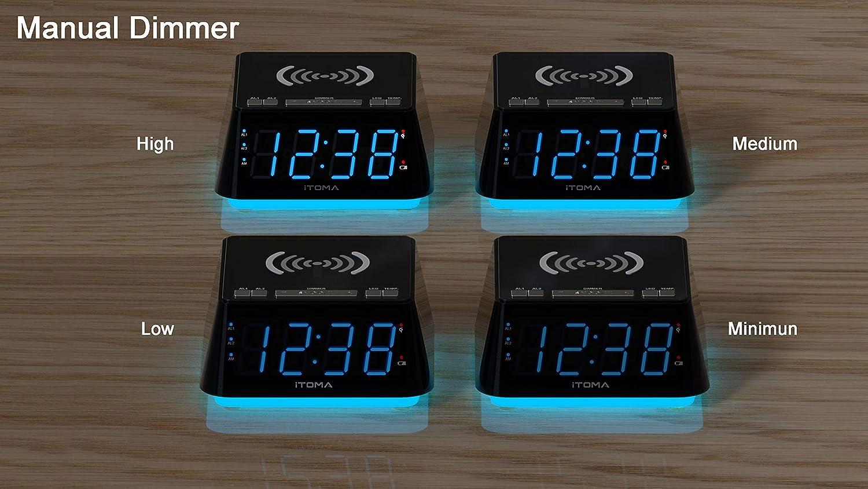 2 Wecker mit Schlummerfunktion Aux-Eingang iTOMA Wecker Radio mit ...