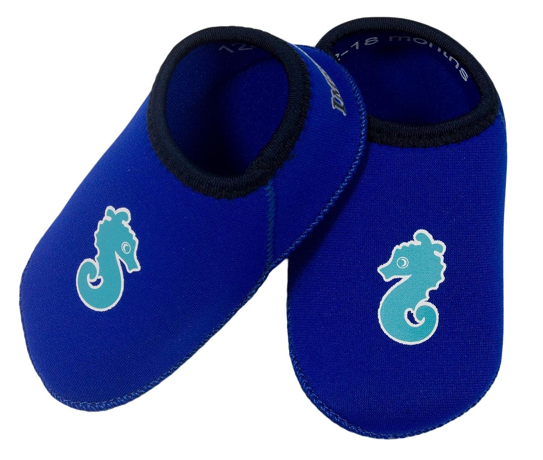 Chausson piscine anti-glisse bleu