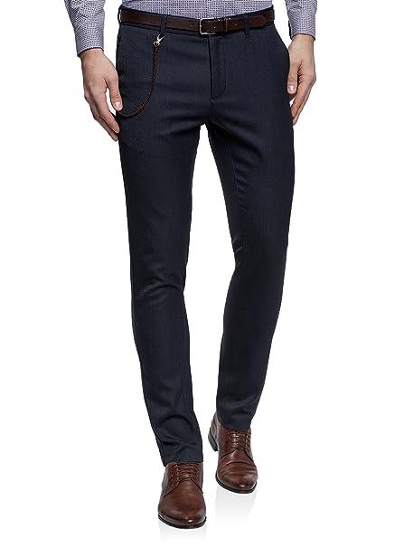oodji Ultra Uomo Pantaloni Chino in Cotone