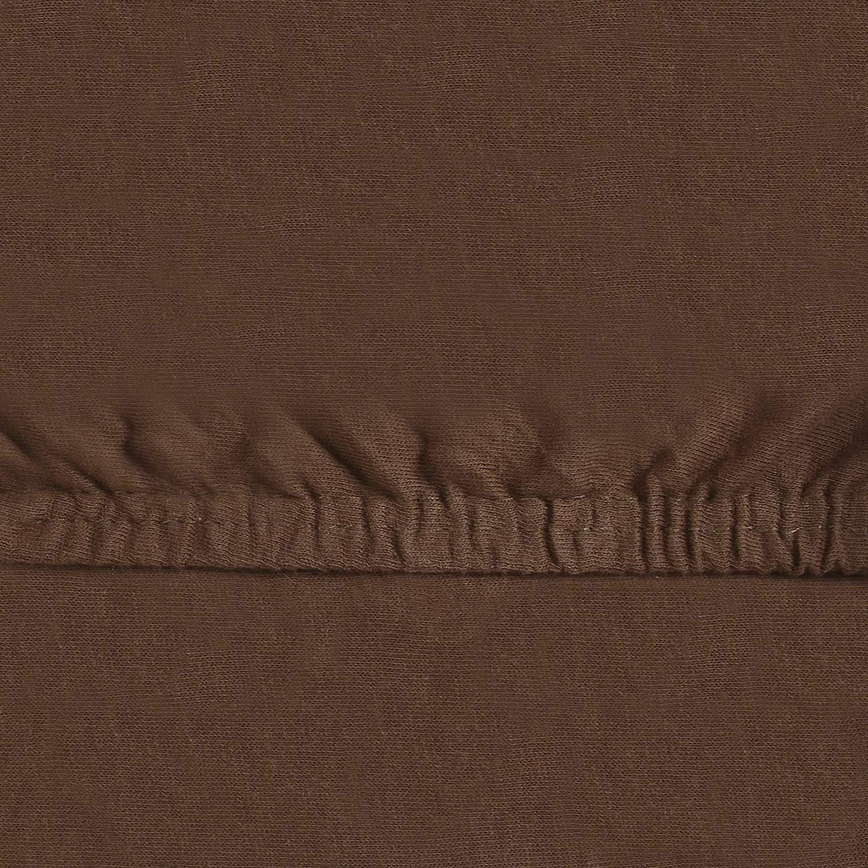 leevitex Drap-Housse en Jersey 100/% Coton dans de Nombreuses Tailles et Couleurs de Marque /Ökotex Standard 100 Bordeaux 140 x 200-160 x 200 cm