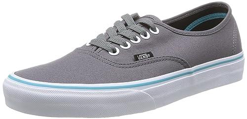 4ceb7d30a0386a Vans Unisex Authentic Pop Sneakers Gargoyle Blue Curacao (5 B(M) US ...
