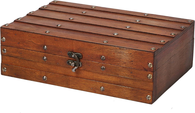 SLPR Cofre de Madera Decorativo (Madera roja) | Caja Retra del Recuerdo del Tesoro del Vintage: Amazon.es: Hogar