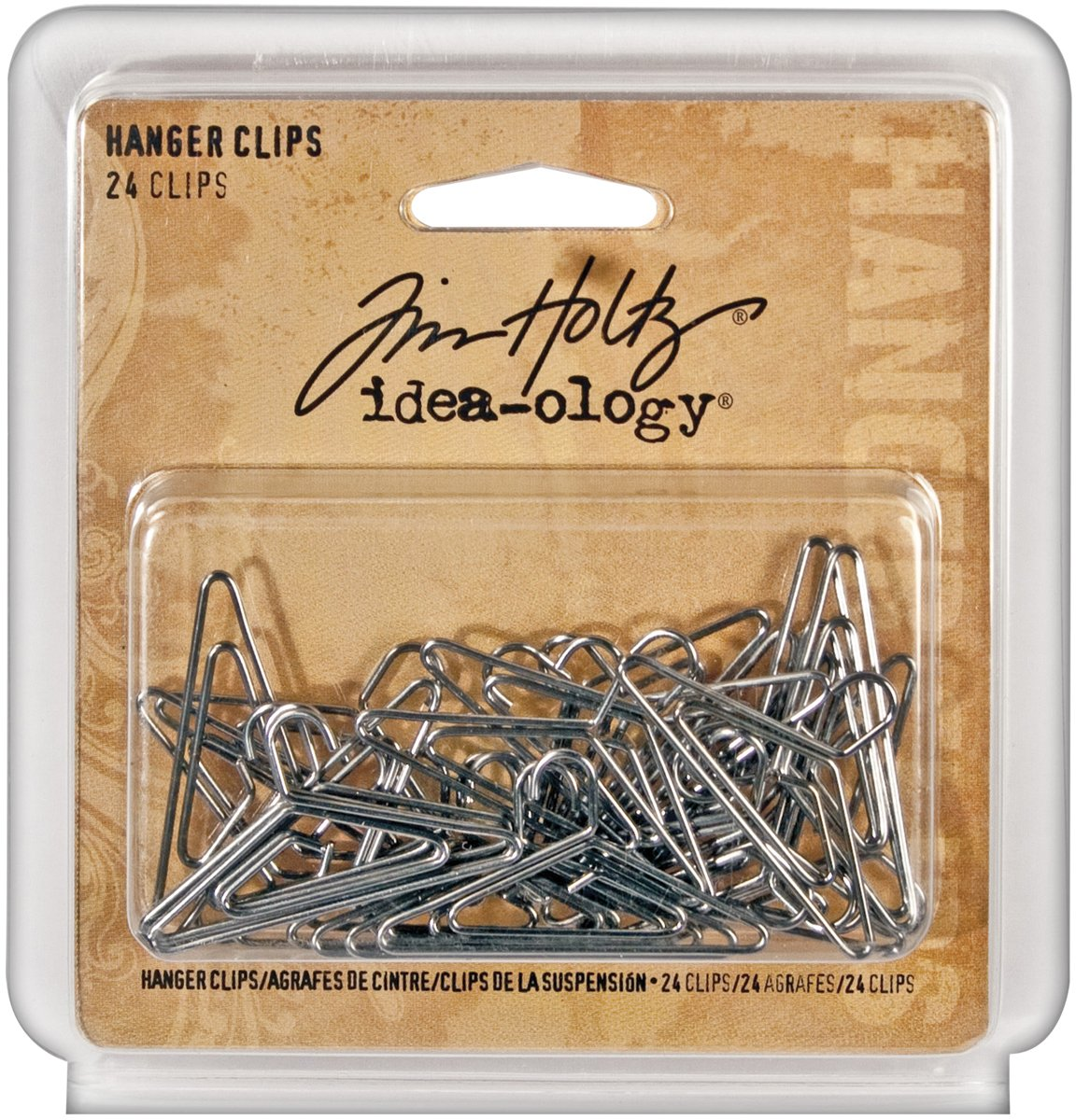 Amazon.com: Metal Hanger Clips by Tim Holtz Idea-ology, 24 per Pack, 1-1/2  Inches Wide, Antique Nickel Finish, TH92901