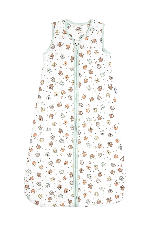 Slumbersac Summer Baby Sleeping Bag 1 Tog - Simply Owl, 0-6 months/70 cm