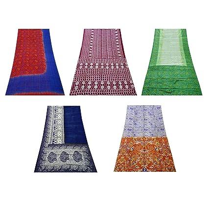 Wholesale Vintage Home Decor.Amazon Com Peegli Vintage Indian Saree Multicolor Wholesale