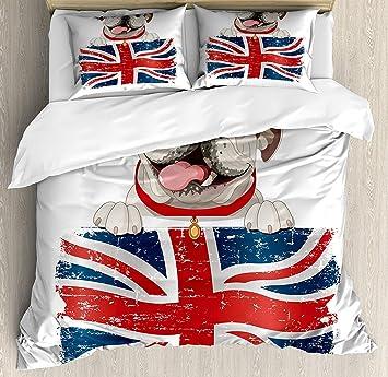 Housse De Couette Bulldog Anglais Happy Pet Bulldog Tenant Une