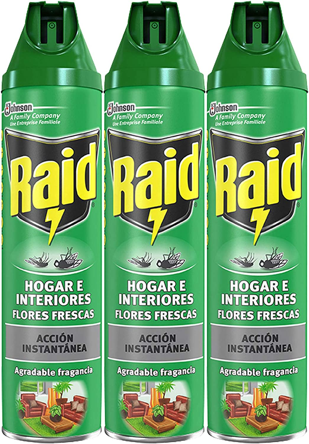 Raid - Hogar E Interiores, 600 ml - [Pack de 3]