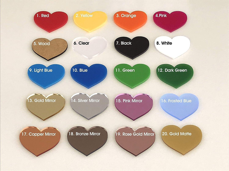 Freestanding Love Heart Wedding Table Decorations 1-10 Centrepiece Mr /& Mrs