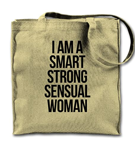 Amazon.com  I Am A Smart Sensual Strong Women Natural Canvas Tote ... e9a0b71a73