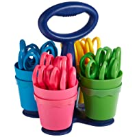 Deals on Westcott School Scissor Caddy and 24 Kids Scissors w/Microban, 5-In