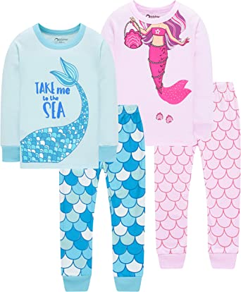 Little Girls Horse Pajamas Set Children Christmas PJs 100/% Cotton Sleepwear Size 2 to 8 Years