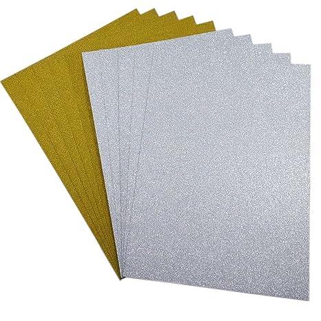 10 Blatt Glitzer Papier Glänzend Bastelpapier A4 Farbiges Tonpapier Sortiert Glitzer Karte Glitterkarton Patchwork Bling-Blin
