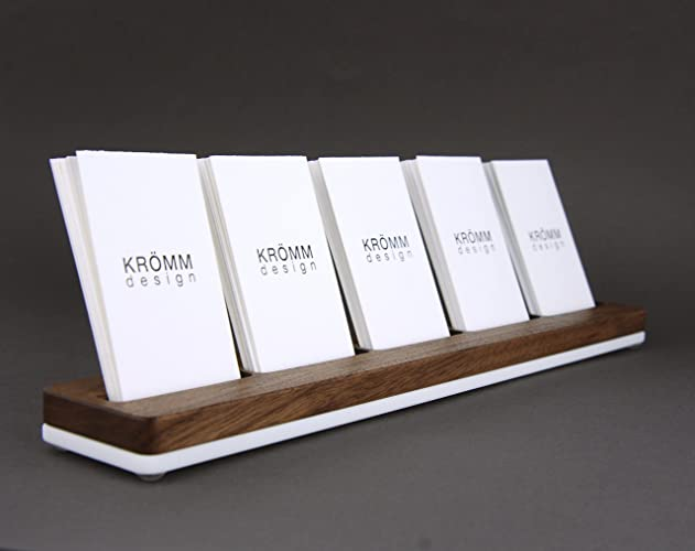 wood multiple vertical business card stand 5 moo vertical business card holder for desk - Business Card Stand