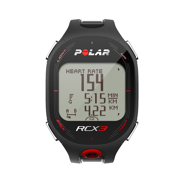 Pack Polar RCX3 Run (incluye S3+) - Reloj con pulsómetro con sensor de zancada (incluido) y compatible con GPS y sensor de velocidad (negro)