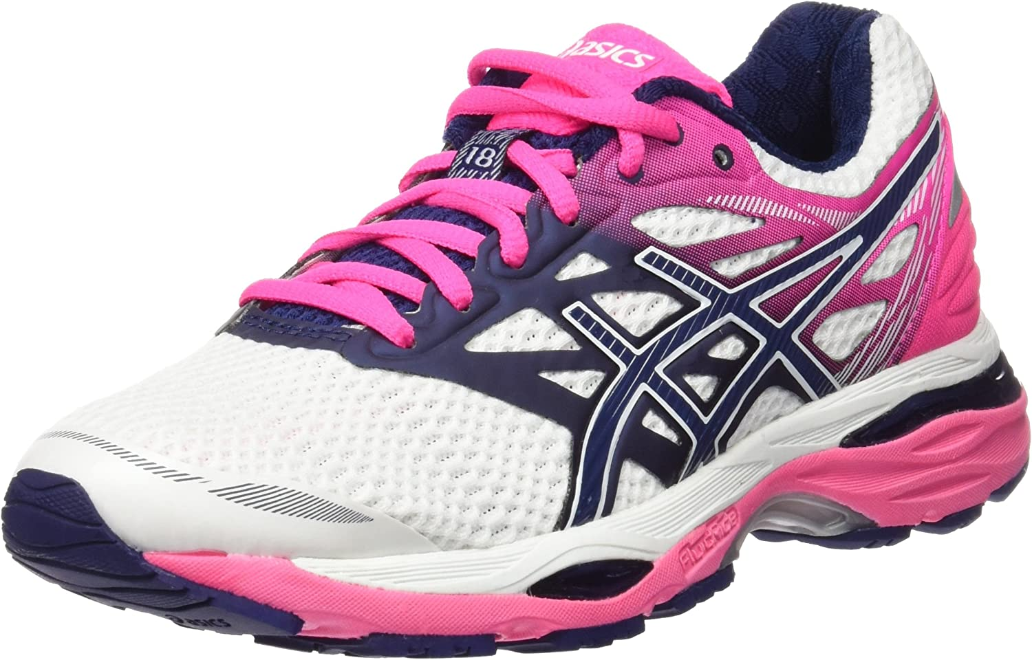 ASICS T6C8N0149, Zapatillas de Running para Mujer, Blanco (White / Indigo Blue / Hot Pink), 41.5 EU: Amazon.es: Zapatos y complementos