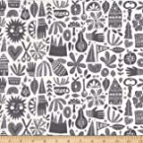 Cloud 9 Organic Kindred Fable Gray Fabric By The Yard