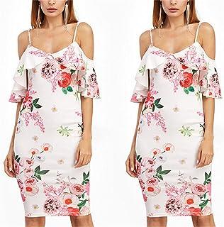 Robin Santiago Fashion Women Lady Ruffle Neck Vintage Summer Boho Party Beach Dress Evening Print Floral