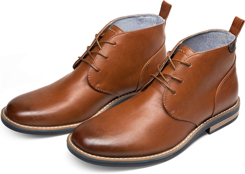 JOUSEN Mens Chelsea Boots Casual Elastic Ankle Boots Classic Dress Boots for Men
