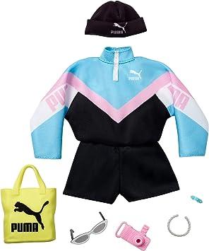Barbie Fashion Vestiti Per Bambola Brandizzati Puma Con Tuta Cappello E Accessori Giocattolo Per Bambini 3 Anni Multicolore Gjg31 Amazon It Giochi E Giocattoli