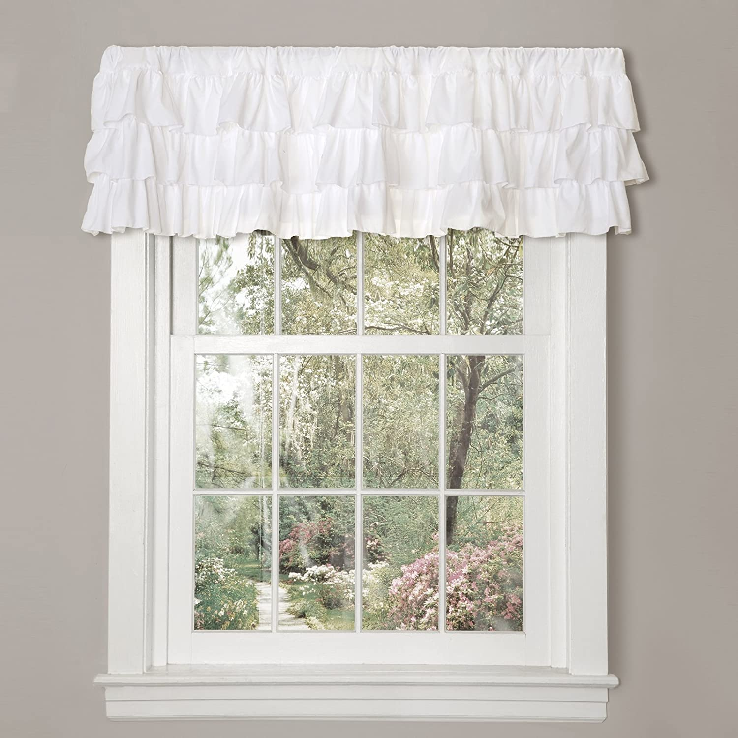 Lovely Amazon.com: Lush Decor Belle Valance, 18 X 84 Inches, White: Home U0026 Kitchen