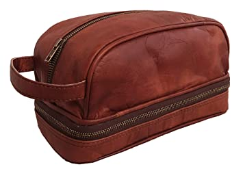 Leather Toiletry Bag For Men (Dopp Kit). The perfect gift and travel  accessory f71ed382e4883