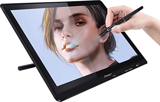 Cocar ドローイングタブレット スクリーン付き 21.5インチ LCD IPS グラフィックタブレット 1920x1080 デジタルアートタブレット スクリーン付き HDモニターディスプレイ 8つのエクスプレス キー/調節可能なスタンド/エクストラスタイラス 8つのペン圧力レベル