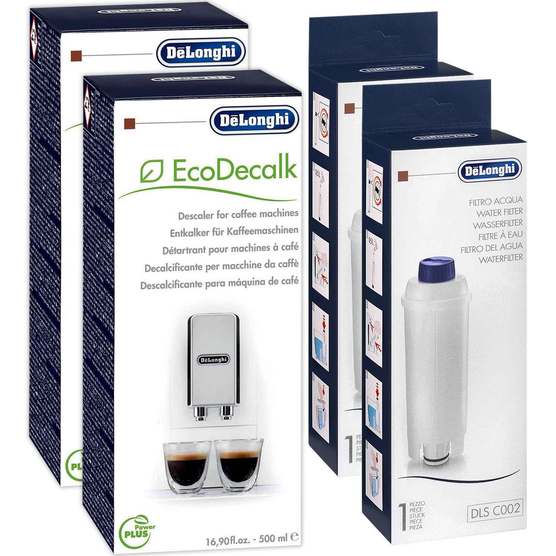 Juego de mantenimiento DeLonghi descalcificador SER 3018, 500 ml y filtro de agua SER 3017: Amazon.es: Hogar