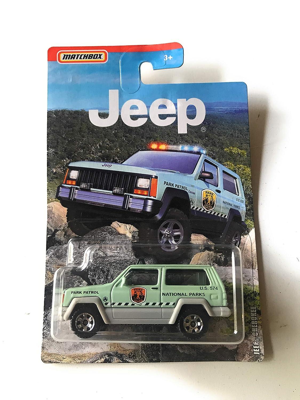MB Serin Matchbox Jeep Cherokee 2019 Green National Parks