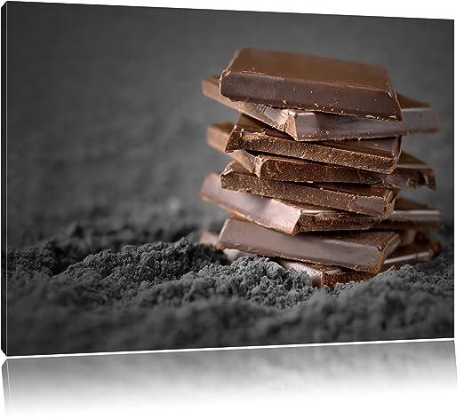 Chocolate piezas negro/blanco lienzo, XXL enormes imágenes ...