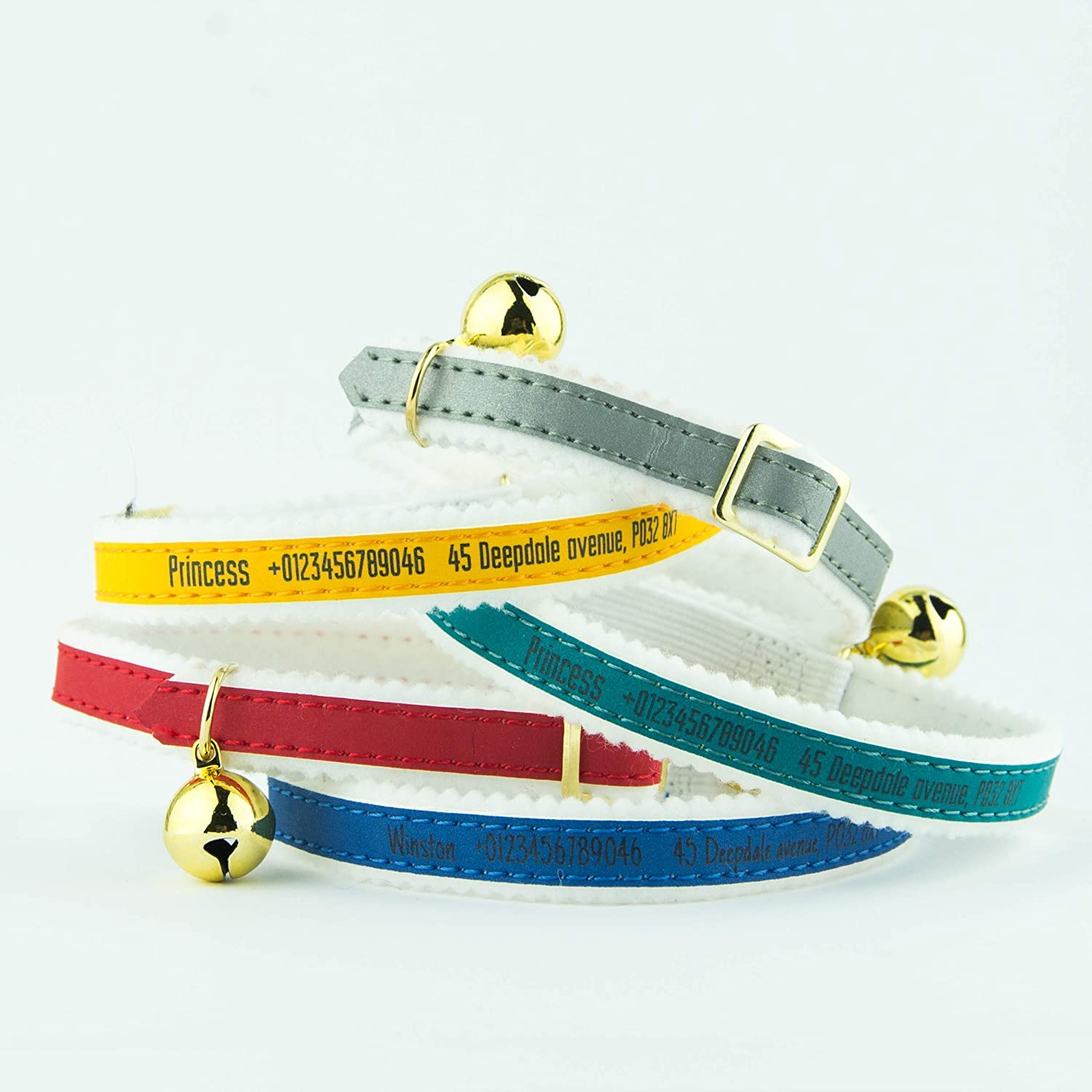 Ancol Personalised Cat Collars | Reflective Range with Bell