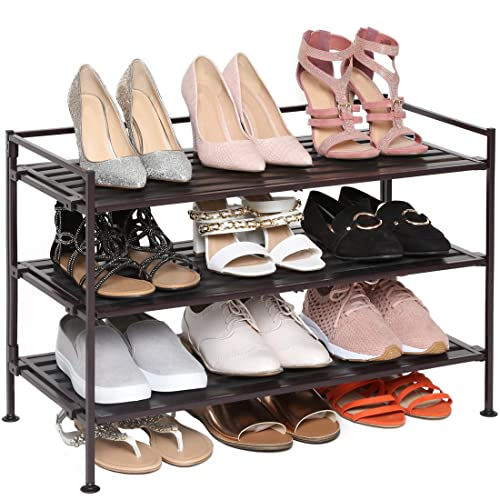 Seville Classics 3-Tier Shoe Storage Rack