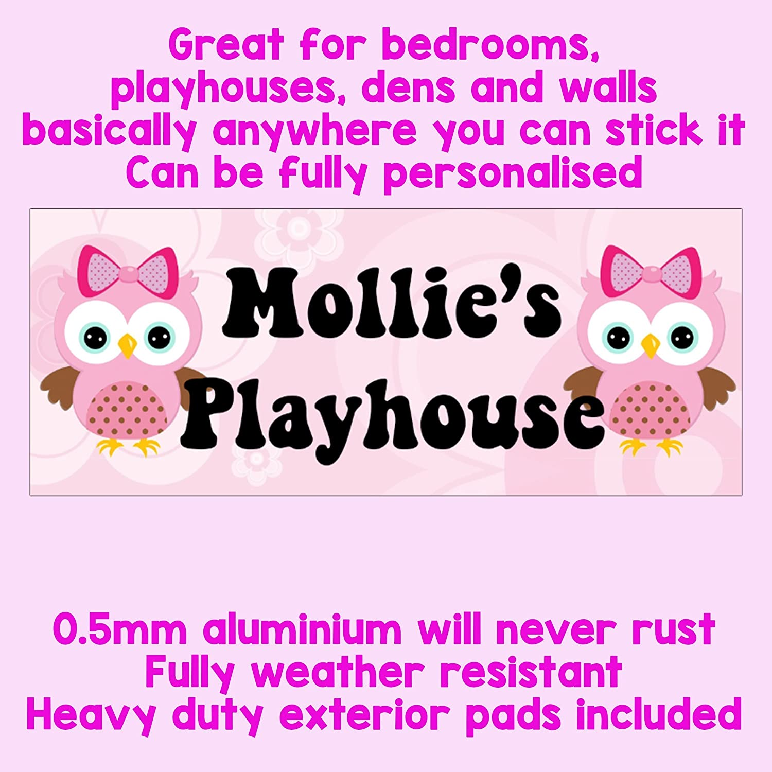 Playhouse Sign Plaque Wendy House Sign Wooden Playhouse Furniture Accessories