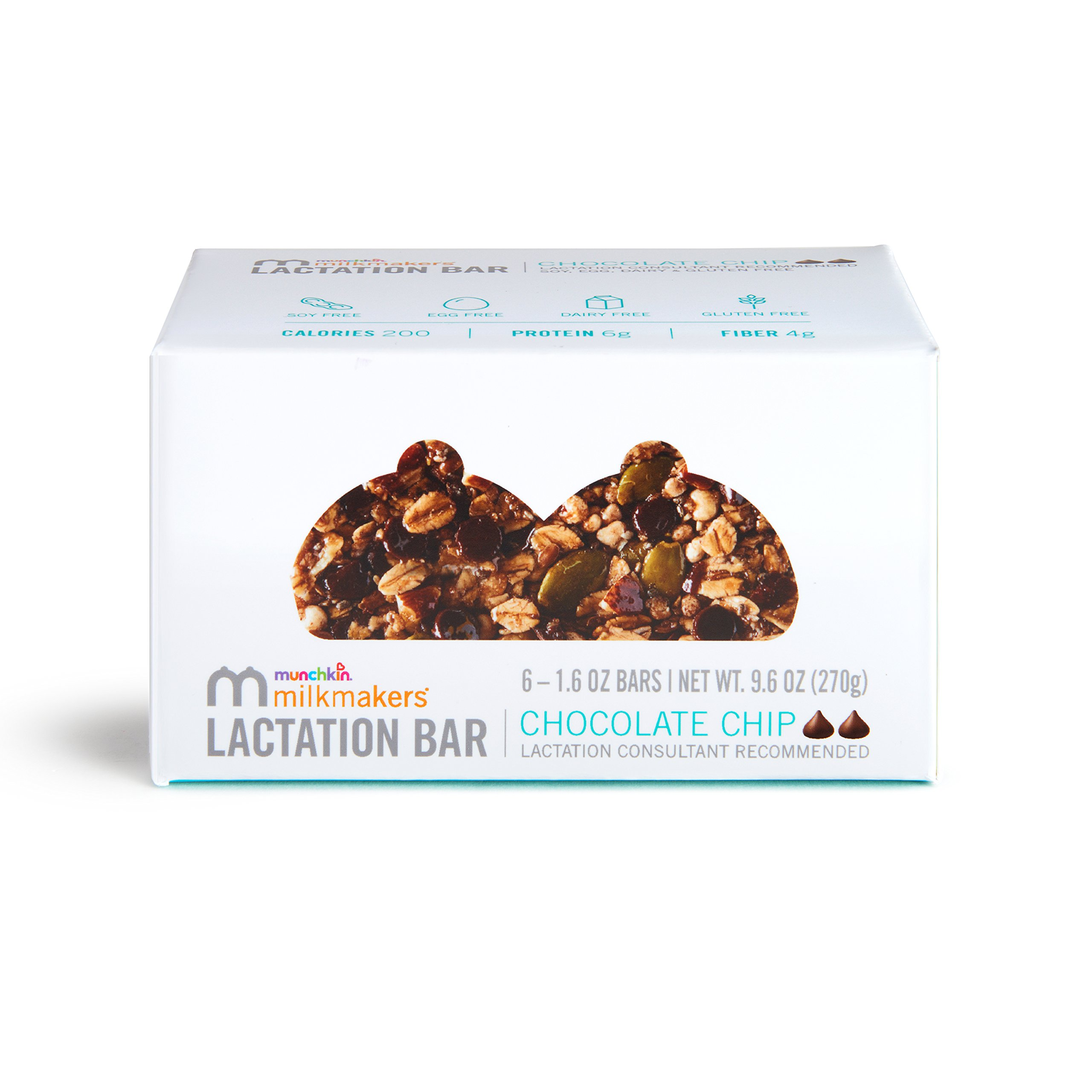 Milkmakers Lactation Bars, Chocolate Chip, 6 Count by Munchkin