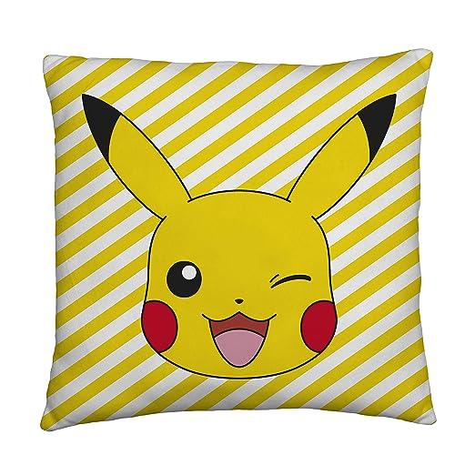 Pokemon Pikachu Almohada Cuadrada | Diseño de Memphis de Dos ...